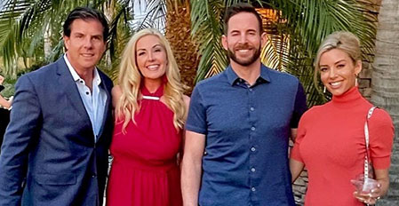 Tarek El Moussa of Flip or Flop and Heather Rae Young of Selling Sunset